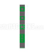 Alpha Kappa Alpha Greek Letter Kente Graduation Stole, Green