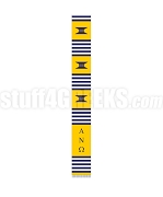 Alpha Nu Omega Greek Letter Kente Graduation Stole, Gold