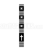 Kente Clergy Stole with Cross, Black/White