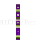 Delta Psi Epsilon Greek Letter Kente Graduation Stole, Purple