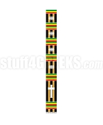 Fancy Kente Clergy Stole with Cross, Black/Gold