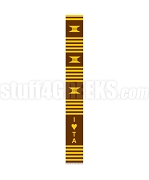 Iota Phi Theta Greek Letter Kente Graduation Stole with Sweetheart Design, Brown