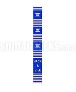 Jack & Jill Kente Banner Graduation Stole, Royal Blue