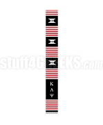 Kappa Alpha Psi Greek Letter Kente Graduation Stole, Black