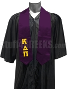 Kappa Delta Pi Satin Men's Graduation Stole with Greek Letters, Purple