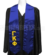 Gamma Kappa Phi Satin Ladies Graduation Stole with Greek Letters, Royal Blue