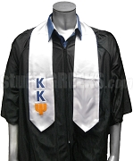 Kappa Kappa Psi Satin Graduation Stole with Greek Letters, White