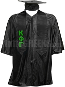 Kappa Phi Gamma Satin Graduation Stole with Greek Letters, Black