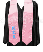 Kappa Sigma Alpha Satin Graduation Stole with Greek Letters, Pink