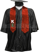 Kappa Sigma Satin Graduation Stole with Greek Letters, Red
