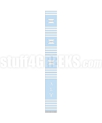 Lambda Sigma Upsilon Greek Letter Kente Graduation Stole, Baby Blue