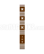 Lambda Theta Phi Greek Letter Kente Graduation Stole, Brown