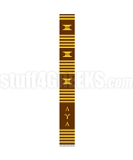 Lambda Upsilon Lambda Greek Letter Kente Graduation Stole, Brown