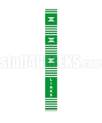 Links Kente Banner Graduation Stole, Green