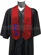 Mu Epsilon Delta Men's Satin Graduation Stole with Greek Letters, Red