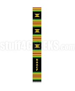 National Association for the Advancement of Colored People Letter Kente Graduation Stole, Black