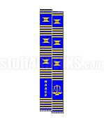National Association for the Advancement of Colored People Letter Kente Graduation Stole with Scales of Justice, Blue