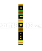 National Council of Negro Women Letter Kente Banner Graduation Stole, Black