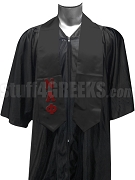 Nu Alpha Phi Satin Graduation Stole with Greek Letters, Black