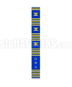 Omega Phi Alpha Greek Letter Kente Graduation Stole, Royal Blue
