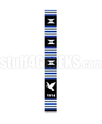 Phi Beta Sigma Founding Year Kente Graduation Stole with Dove, Black