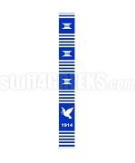 Phi Beta Sigma Founding Year Kente Graduation Stole with Dove, Royal Blue