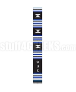 Phi Beta Sigma Greek Letter Kente Graduation Stole, Black