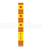 Phi Delta Kappa Greek Letter Kente Graduation Stole, Gold