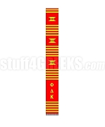 Phi Delta Kappa Greek Letter Kente Graduation Stole, Red