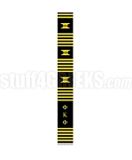 Phi Kappa Phi Greek Letter Kente Graduation Stole, Black