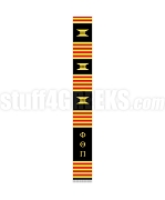 Phi Theta Pi Greek Letter Kente Graduation Stole, Black