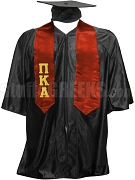Pi Kappa Alpha Satin Graduation Stole with Greek Letters, Red