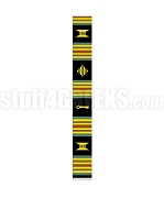 Plain Mixed Symbols Kente Graduation Stole, Black