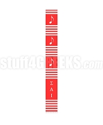 Sigma Alpha Iota Greek Letter Kente Graduation Stole, Red