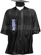 Sigma Beta Xi Satin Graduation Stole with Greek Letters, Black