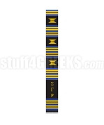 Sigma Gamma Rho Greek Letter Kente Graduation Stole, Black