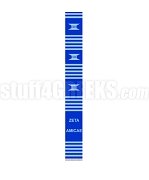 Zeta Amicae Kente Banner Graduation Stole with Organization Name, Royal Blue