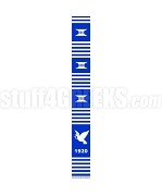 Zeta Phi Beta Kente Graduation Stole with Dove and Founding Year, Royal Blue