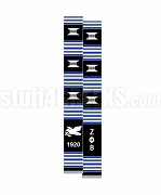 Zeta Phi Beta Greek Letter Kente Graduation Stole with Dove and Founding Year, Black