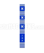 Zeta Phi Beta Greek Letter Kente Graduation Stole, Royal Blue