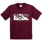 Gamma Sigma Sigma Screen Printed T-Shirt with Crest and Founding Year, Maroon