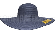 Alpha Nu Omega Greek Letter Floppy Hat, Navy Blue