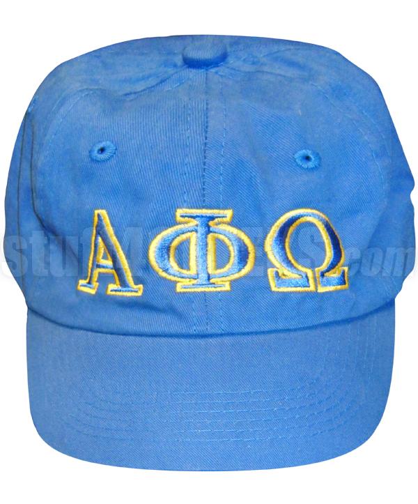 Alpha Phi Omega Greek Letter Baseball Cap Royal Blue
