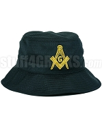 Mason Floppy Bucket Hat with Square & Compass, Black (SAV)