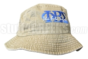 Phi Beta Sigma Khaki Tan Bucket Hat with Stitched Letters NS