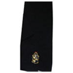 Alpha Phi Alpha Black Scarf with Crest