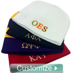 Custom Beanie Hat for Any Fraternity or Sorority