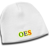 OES Eastern Star Knit Beanie Hat