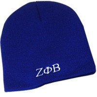 Zeta Phi Beta Knit Beanie Hat