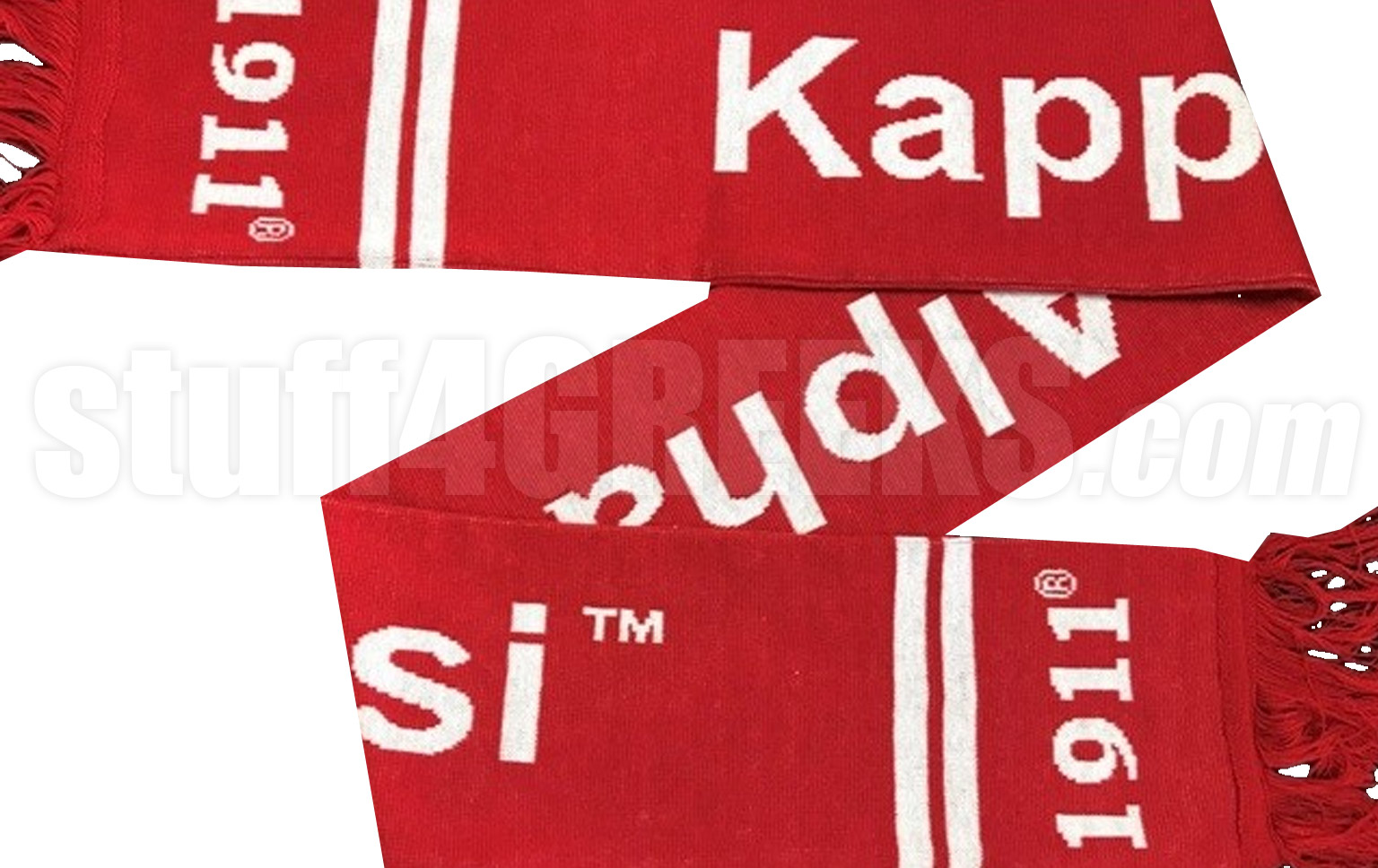 Kappa Alpha Psi Scarf with Organization Name, Red (SAV)